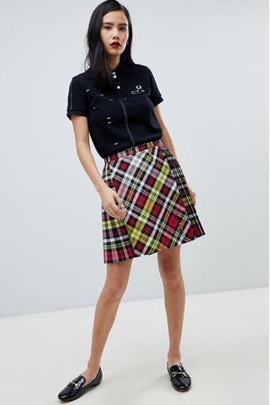Юбка в клетку тартан Fred Perry x Le Kilt - Мульти Fred Perry 34321